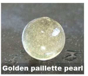 Golden paillette pearl