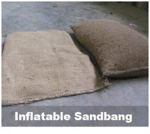 Inflatable sandbang